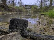 Demolition of Cedar Covered Bridge, 5-3-18