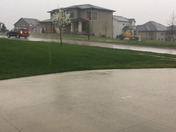 As the front moved into Urbandale this was the pouring rain.