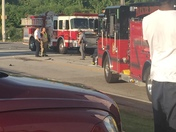 Coroner on scene of accident on Pleasantburg Drive