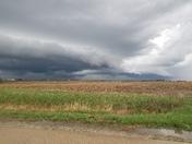Storm clouds north of Diagonal.