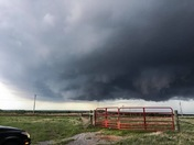 5-2-2018 tornado warned storm near Ft Cobb