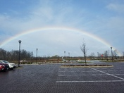 Rainbow over Emerald Preserve Park in Oak Creeks' Drexel Town Square