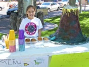 LEMONADE DAY BROUGHT OUT THE BUBBLING VOLCANO AND A BRIGHT SUNNY SMILE...