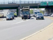 The Mass Pike coming to a screeching halt this morning