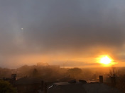 Tonight's Foggy Sunset in Portland