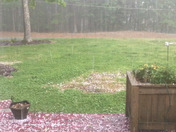 Hail in Walnut Cove about 4:35 pm