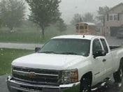 Storm with hail blows thru Abbottstown Pa