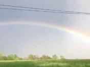 Rainbow over the farmers fields in Paradise York County.