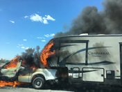 Vehicle fire on Hwy 50 Eastbound just past East Bidwell exit.