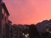 Beautiful rainy sunset!