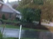 Hail in Elizabethtown, PA.