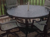 Hail in New Freedom at about 6:25