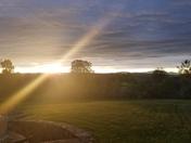 Sun set in west boylston