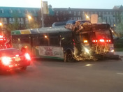 Photos of the MCTS bus that crashed today