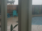 It's pouring in Rancho Cordova! Loud thunder and lightning!