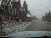 I remembered I have dash cam video of driving west on I80 at soda springs around 12 30 today.