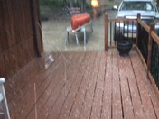 Hail storm in Black Swan lake, Shawnee Kansas...