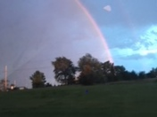 Tonight's full double rainbow