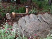 Naturally formed Rock Statue in the garden.