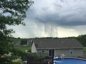 Rain shafts south and west of Excelsior Springs