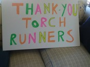 Special Olympics nh torch run sign