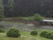 Flooding below Raven Knob Lake in Surry County
