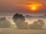 Smoky Mountain Sunrise in Iowa Today - Photo by Dave Austin