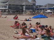 Sandcastle festival and sunbathing in Hampton Beach