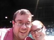 My name is David Hylton and this is me with my wife Abby during the May 20th double header!