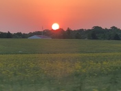 Beautiful sunrise this morning in Payneville Ky, Meade County.