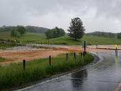 About 12 miles Northwest of Sparta North Carolina Monday 2 p.m. flash floods.