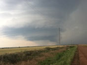 From the tornado warned storm by Fairview on May 19.