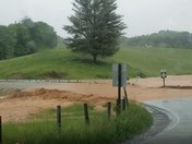 Road completely washed out.
