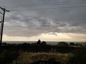 Rain and hail in Sandia Heights.
