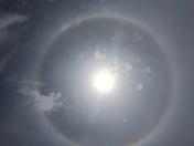 Ringed rainbow around the sun outside of Norwalk, IA.