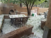 Hail in Santa Fe at 5:25 today.