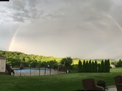 Beautiful double rainbow after the thunderstorm!