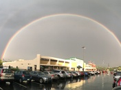 DOUBLE RAINBOW AT LA FITNESS BRIDGEVILLE!!!