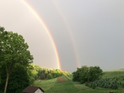 A beautiful FULL DOUBLE rainbow