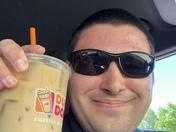 I got my Iced Coffee!!! Celebrating