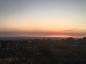 Another of Smokey sunset over Embudo Arroyo