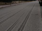 Hail on Highway 84