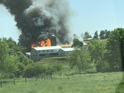 Working barn fire BART Township