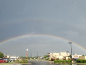 Double rainbow after the rain in Siloam Springs.