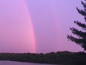 Rainbows over Shawnee Mission Park this evening!