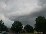 Storms over Fayetteville Arkansas