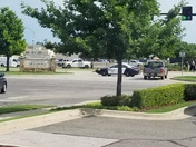 Crime scene at SE 29th and Mid America Blvd at the Midwest City Welcome Center.