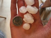 Hail in Ames, Iowa