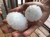 Handful of hail