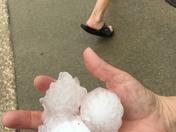 Hail storm in Huxley.
